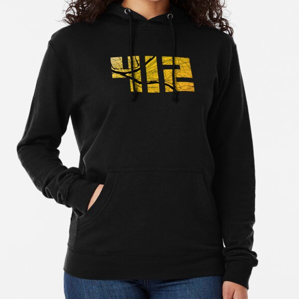 Pittsburgh 412 Map Lightweight Hoodie