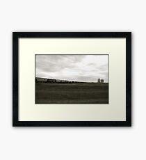 A Train across the prairies  Framed Print