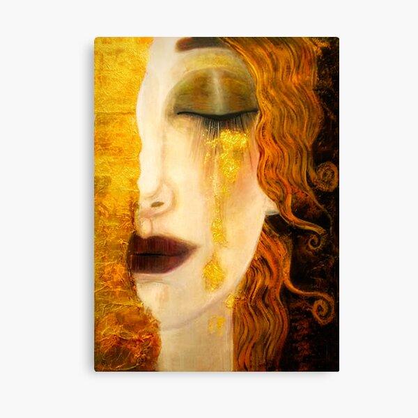 Freya's Crying Viking Lore pretty woman Canvas Print