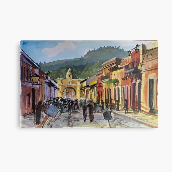 Main Street in Antigua Metal Print