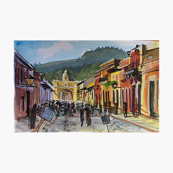 Main Street in Antigua Photographic Print