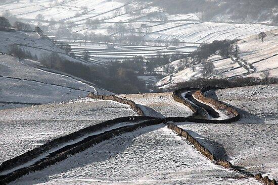 Cam Gill Road - Winter by SteveMG