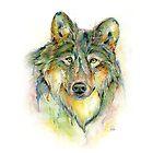 Wolf - Aquarell von Bettina Kröger