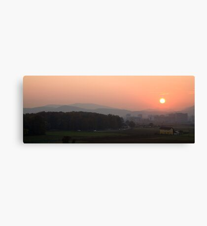 Sunset over Ljubljana, Slovenia Canvas Print