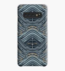 CRazy Oil PaintinG Blue/Grey Wavey Case/Skin for Samsung Galaxy