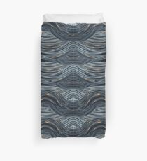 CRazy Oil PaintinG Blue/Grey Wavey Duvet Cover