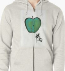 (green) Apple 1 Zipped Hoodie