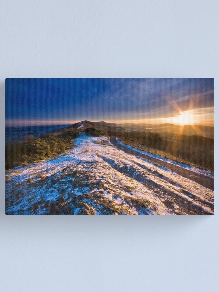 Alternate view of Malvern Hills: Winter Sunset Canvas Print