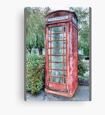 Red Telephone Booth Canvas Print