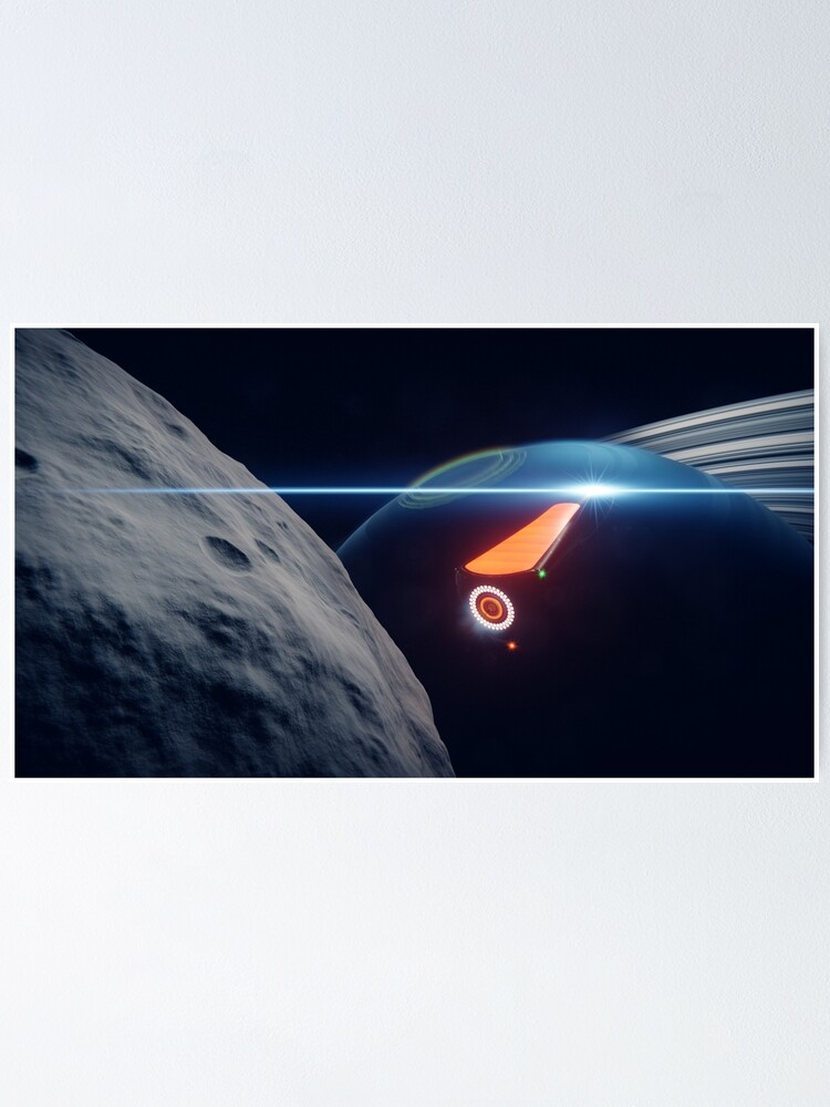 Alternate view of Xon Wasp departing Venalis Station Poster