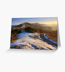 Malvern Hills: Winter Walk Greeting Card