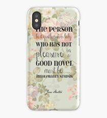 Pleasure of a Good Novel - Jane Austen iPhone Case/Skin