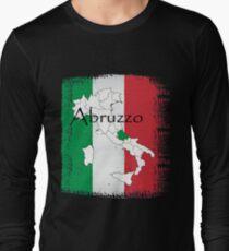 Abruzzo Italian Pride Design Long Sleeve T-Shirt