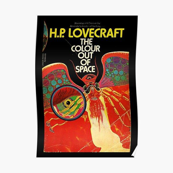 HAUTE RÉSOLUTION La couleur hors de l'espace H.P. Couverture de livre vintage de Lovecraft Poster