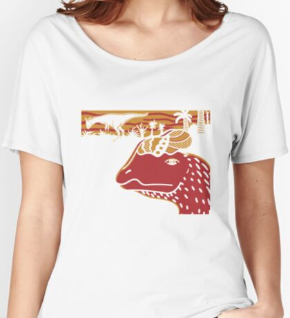Dilophosaurus Duo - Orange and Red Women's Relaxed Fit T-Shirt