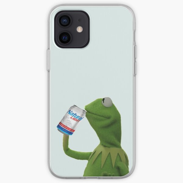 Kermit Sips Natty Light iPhone Soft Case