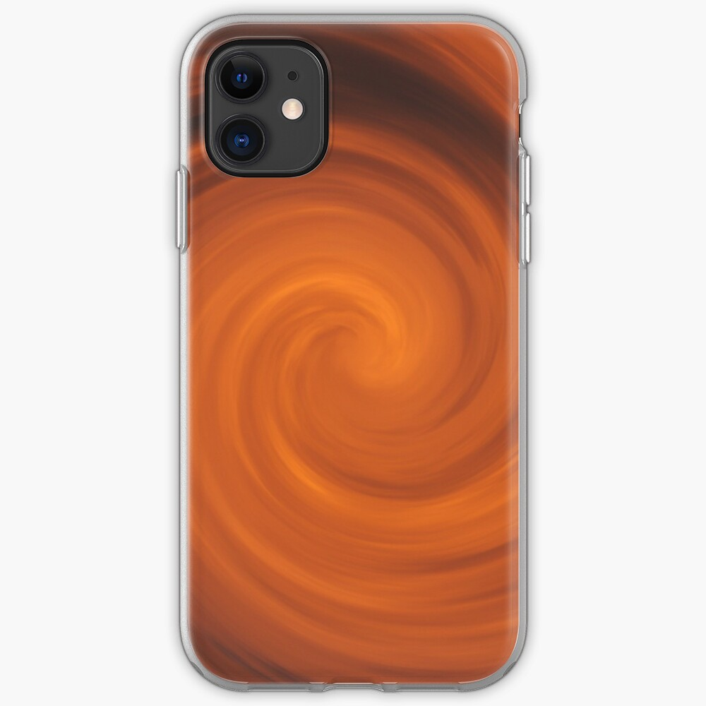 Orange Smoke Cloud Cyclone Wallpaper Iphone Case Cover By Dator Redbubble