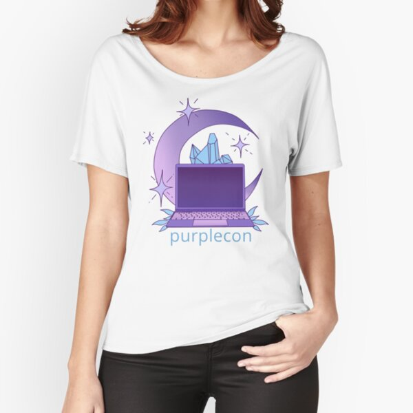 purplecon 2019 shirt a (for purple background) Relaxed Fit T-Shirt