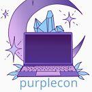 purplecon 2019 shirt a (for purple background) by purplecon