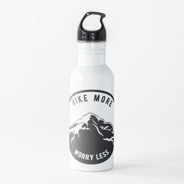 Caminata Más Preocúpate Menos Montaña Negro I Senderismo Regalo Botella de agua