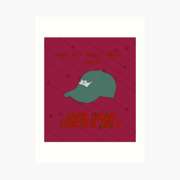 Hat and arrows Art Print
