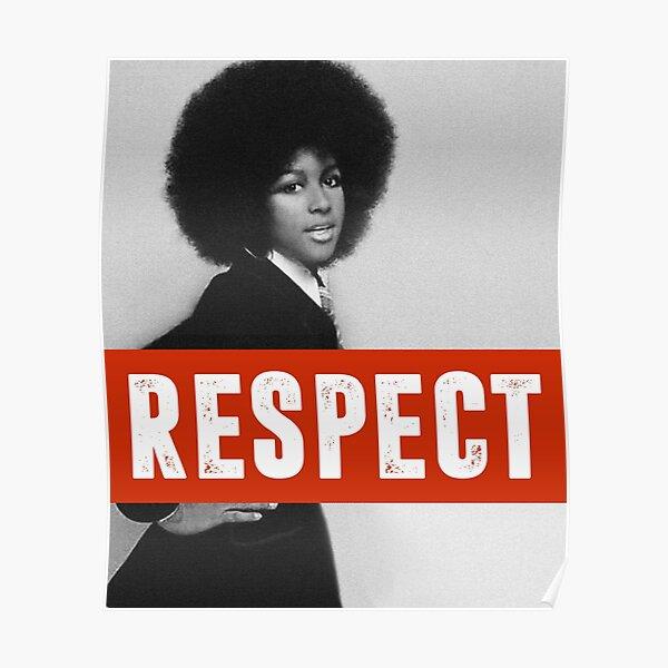Aretha Franklin Memorial Respect Women's Liberation Empowerment Design Poster
