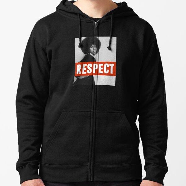Aretha Franklin Memorial Respect Women's Liberation Empowerment Design Zipped Hoodie