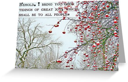 Good Tidings of Great Joy (Card) by rocamiadesign