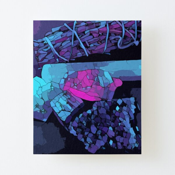 Sage & Crystals Canvas Mounted Print