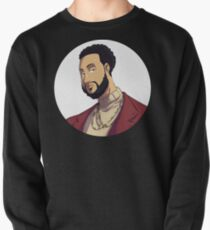 Portrait | Created by @cknightart Pullover Sweatshirt