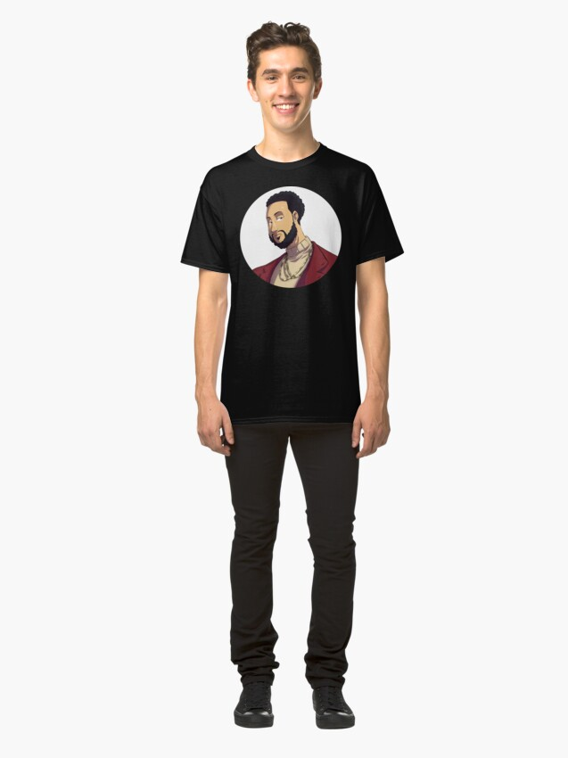Alternate view of Portrait | Created by @cknightart Classic T-Shirt