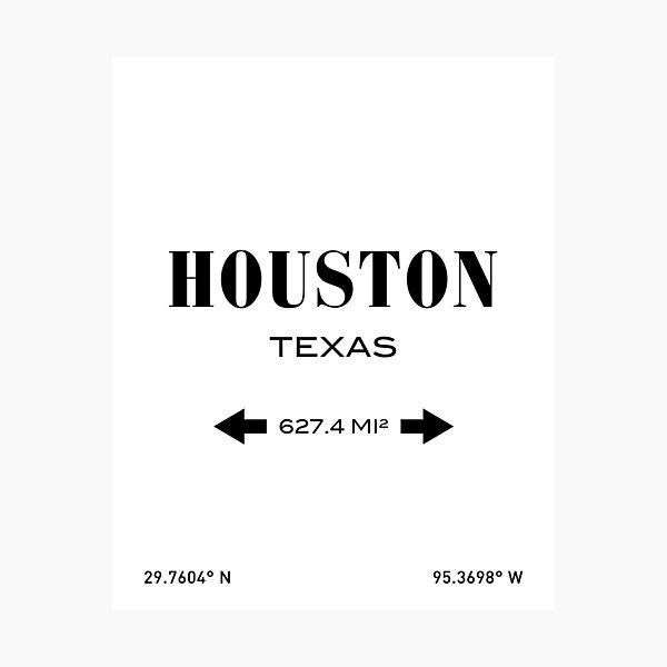 Houston Print Photographic Print