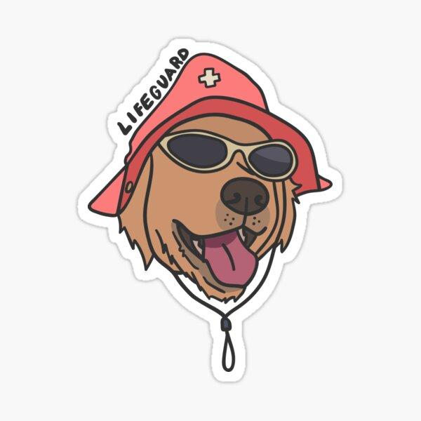 Lifeguard Dog Sticker