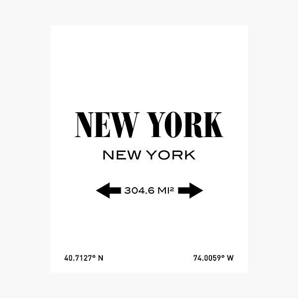 New York City Print Photographic Print