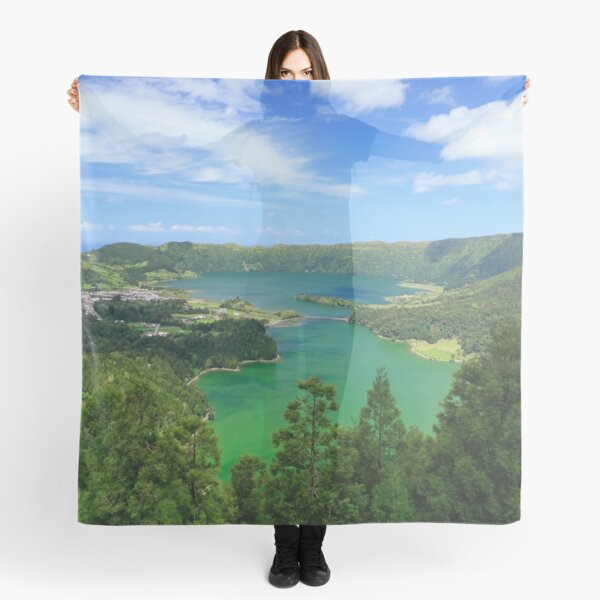 Lakes in Azores Scarf
