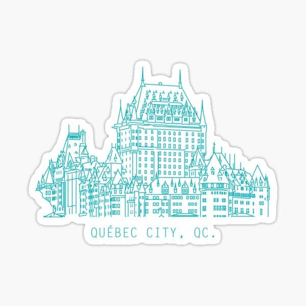Série d'horizon de la ville de Québec Sticker