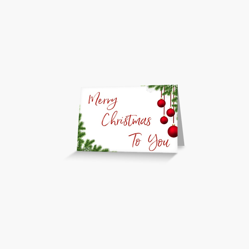 Merry Christmas Card Greeting Card