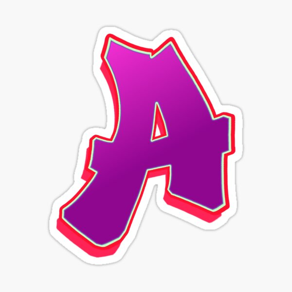 A - purple/red Sticker