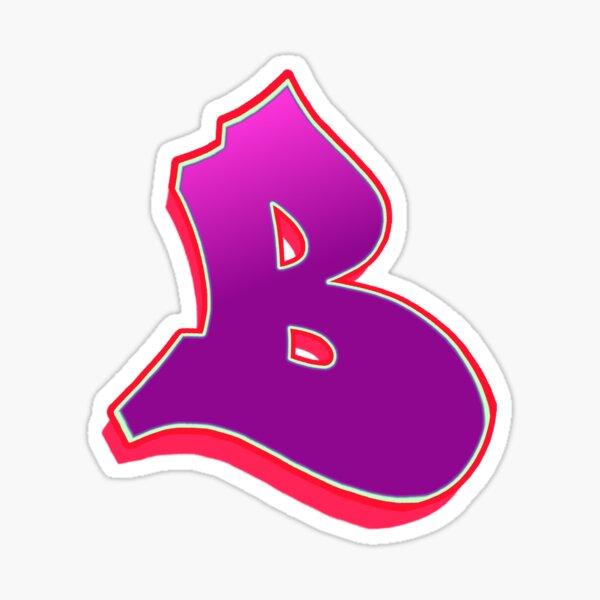 B - purple/red Sticker