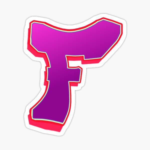 F - purple/pink Sticker
