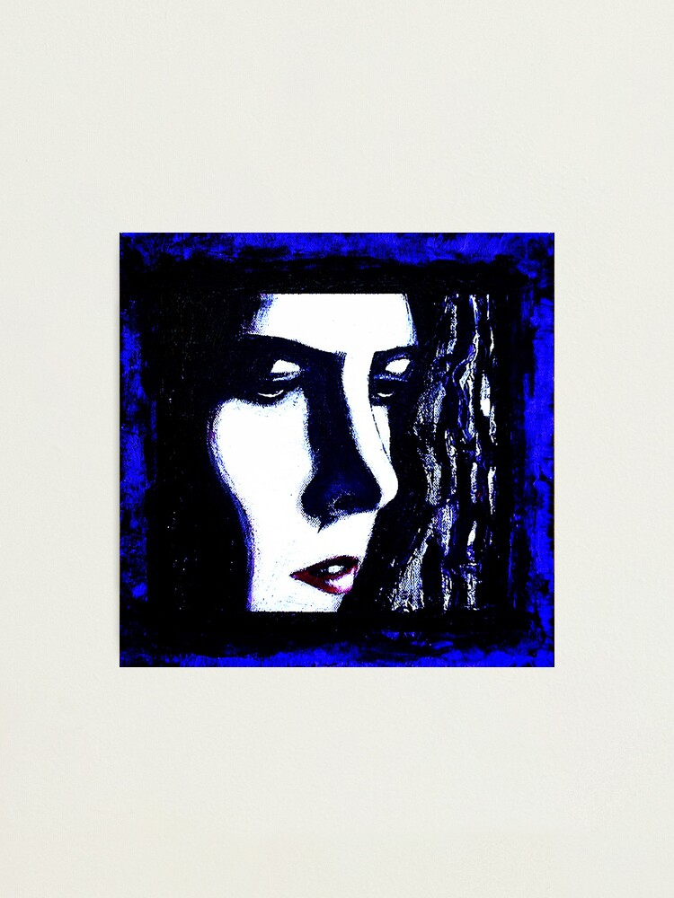 Alternate view of Serious Blue Photographic Print