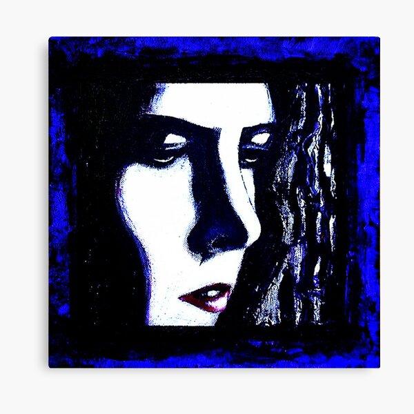 Serious Blue Canvas Print