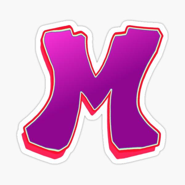 M - purple/red Sticker