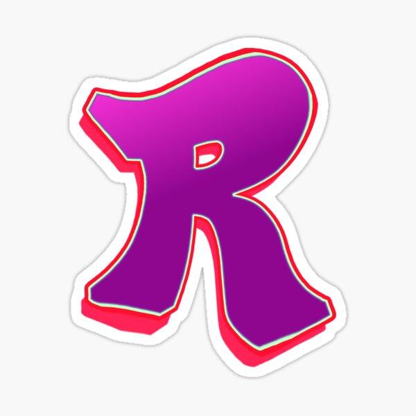 R - purple/red Sticker