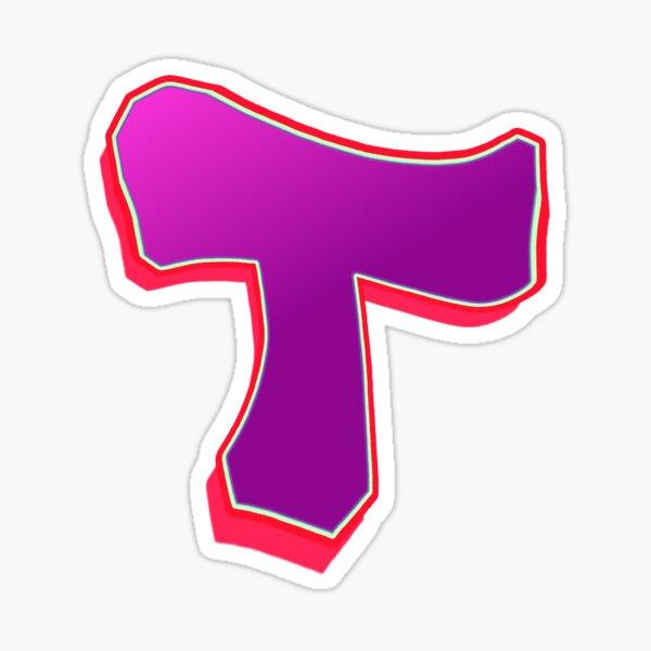 T - purple/red Sticker