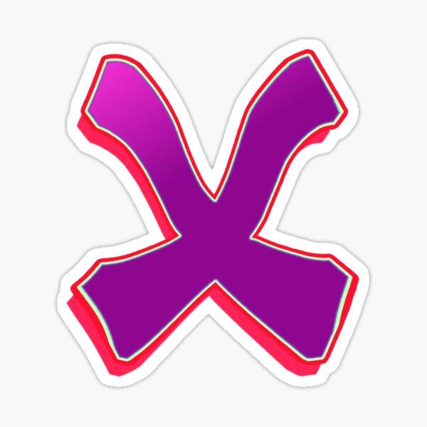 X - purple/red Sticker