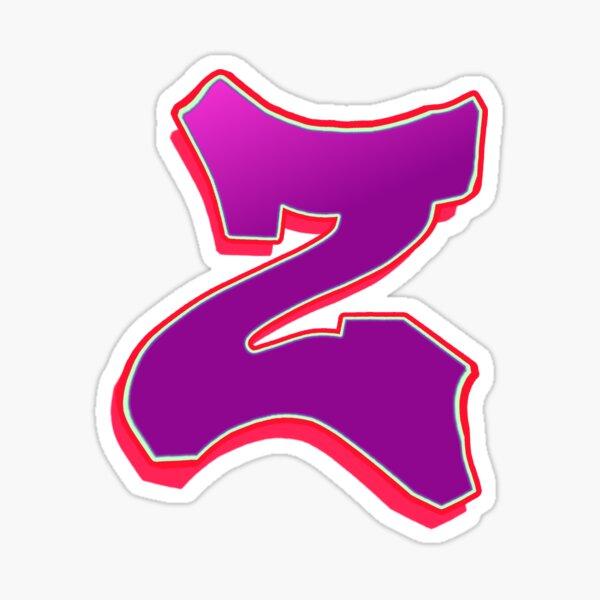 Z - purple/red Sticker