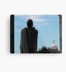 Roger Williams and the State House Metal Print