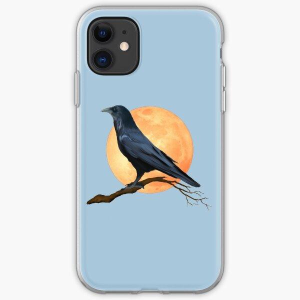 Full Moon Raven  iPhone Soft Case