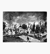 small town walk home Photographic Print